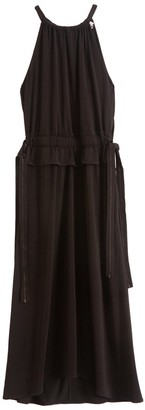 Proenza Schouler Sleeveless Cinched Dress in Black
