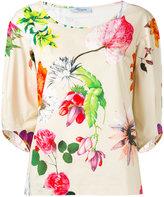 Blumarine floral print blouse - women - Cotton/Spandex/Elastane - 40