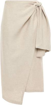 Tome Brushed Woven Midi Wrap Skirt