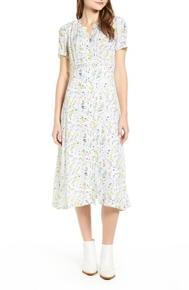 Lucky Brand Penelope Floral Print Midi Dress