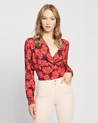 ROLLA'S Women's Red Shirts & Blouses - Bella Datura Blouse - Size S at The Iconic