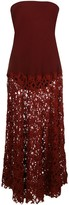 Thumbnail for your product : Romeo Gigli Pre-Owned Strapless Flared Midi Dress