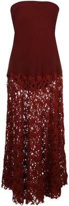 Romeo Gigli Pre Owned Strapless Flared Midi Dress