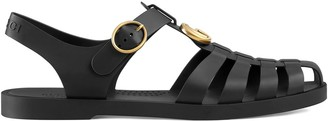 Gucci Rubber buckle strap sandals