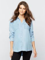 A Pea in the Pod Splendid Button Front Maternity Shirt