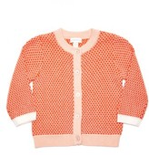 Margherita Infant Girl's Honeycomb Knit Cardigan Sweater