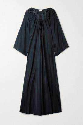 POUR LES FEMMES Silk-habotai Maxi Dress - Midnight blue