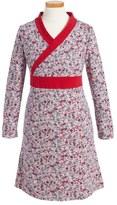 Tea Collection Ikebana Wrap Neck Dress (Toddler Girls, Little Girls & Big Girls)