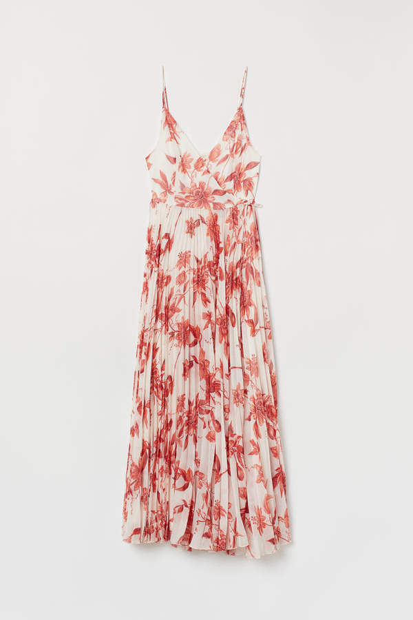 H&M Pleated Wrap Dress - Red