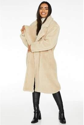Quiz Stone Borg Teddy Bear Long Coat