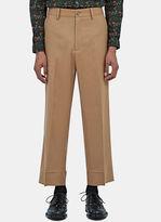 Gucci Men's Straight Leg Wool Flannel Pants In Beige