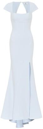 Rebecca Vallance Cutout-back crepe gown