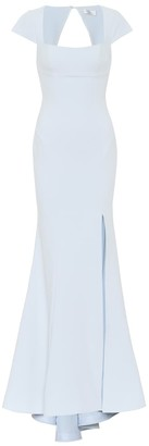 Rebecca Vallance Cutout-back crApe gown