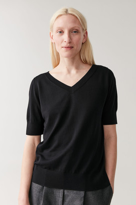 Cos Knitted V-Neck Top