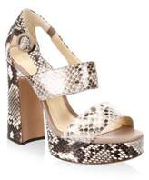Alexandre Birman Elouise Leather Platform Sandals