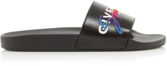 Givenchy Printed Rubber And Canvas Slides