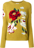 Allude floral sweater