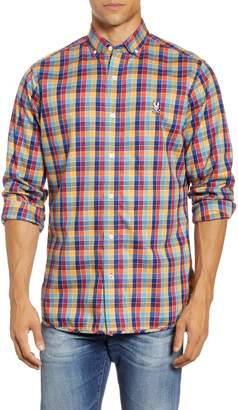 Psycho Bunny Osbert Button-Down Flannel Shirt