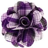 Vittorio Vico Men's Plaid Flower Lapel Pin