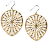 Lucky Brand Gold-Tone Openwork Drop Earrings