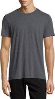 Vince Crewneck Short-Sleeve Cotton T-Shirt, Gray