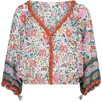 Poupette St Barth Exclusive to Mytheresa Ariel floral cotton blouse