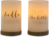 Studio Mercantile 2-Pc. LED Flameless Candle Set with Timer