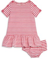 Kate Spade Girls' Bow Trimmed Stripe Dress & Bloomers Set - Baby