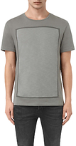 Allsaints Allsaints Blanco Rectangle Crew Neck T-shirt, Pewter Grey