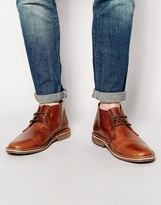 Red Tape Leather Desert Boots