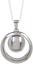 Argentovivo Sterling Silver Double Circle Pendant Necklace