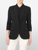 Calvin Klein Ruched Sleeve Suit Jacket
