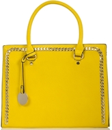 Quiz Yellow Chain Detail Large Tote Bag