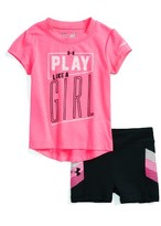Under Armour Infant Girl's Play Like A Girl T-Shirt & Shorts Set