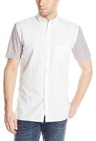 Barney Cools Men's Floral Short Sleeve Woven In White