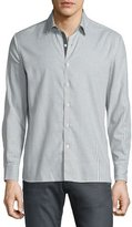 Ovadia & Sons Gingham Woven Sport Shirt, Gray Pattern
