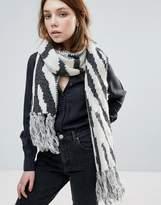 Eugenia Kim Genie By Linley Grey And Cream Zebra Print Scarf