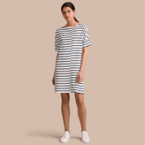 Burberry Short-sleeve Striped Jersey Dress
