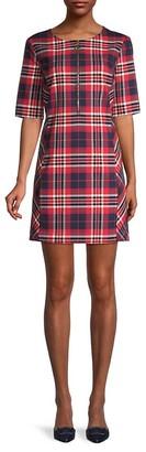 Trina Turk Plaid Mini Dress