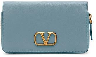 Valentino VLogo Leather Smartphone Case