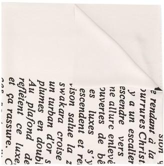 Christian Dior Pre-Owned Handwritten Print Scarf