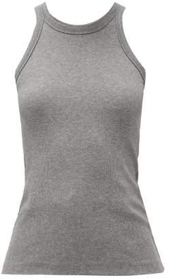 Totême Espera Organic Cotton-blend Jersey Tank Top - Womens - Grey