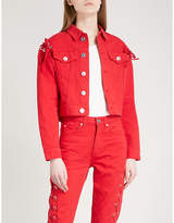 Sandro Laced-detail denim jacket