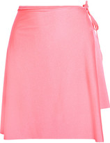 Balenciaga Asymmetric Stretch-satin Wrap Skirt - Pink