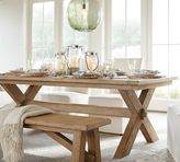 Pottery Barn Toscana Extending Dining Table & Bench 3-Piece Dining Set