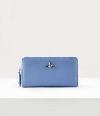 Vivienne Westwood Classic Zip Round Wallet Light Blue