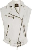 Roberto Cavalli Oversized textured-leather vest