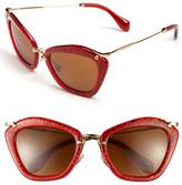 Miu Miu Women's Glitter Infused 55Mm Cat Eye Sunglasses - Black