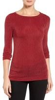 MICHAEL Michael Kors Petite Women's Shimmer Knit Boatneck Top