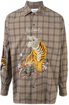 Doublet Biting embroidered check shirt